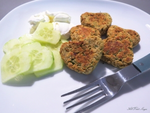 Falafal with Cucumber Salad